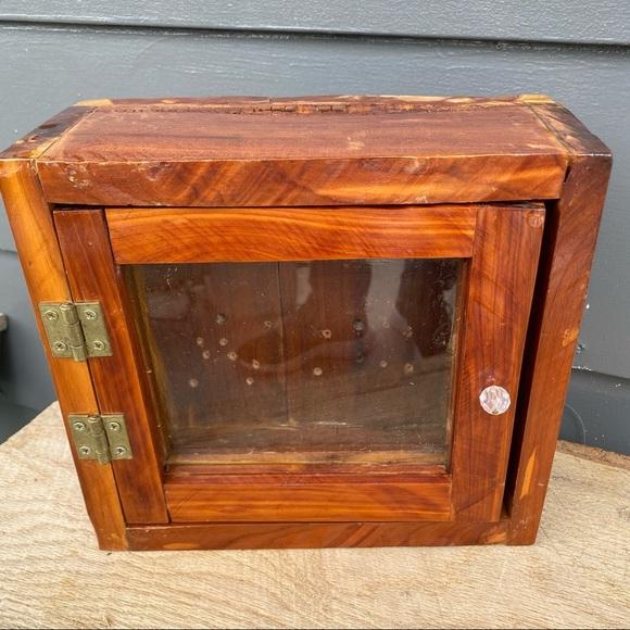 Cedar wooden jewelry box or shadow box